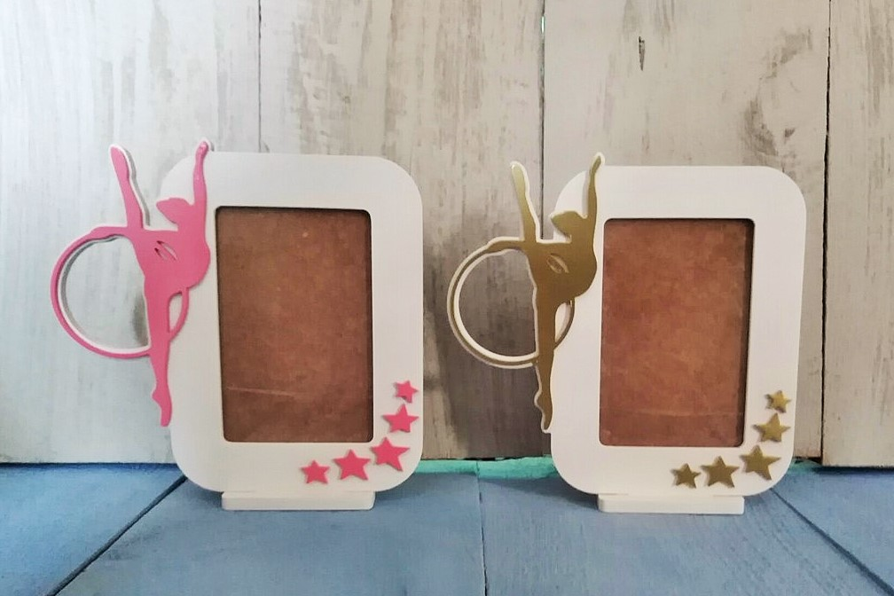 Gymnastics Picture Frame Laser Cut Template Free Vector