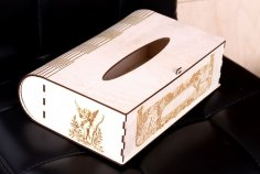 Laser Cut Tissue Box Engraved Tissue Holder Plywood Free Vector