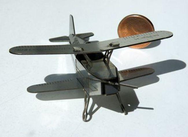 Laser Cut Wood Airplane Toy Kit DXF File