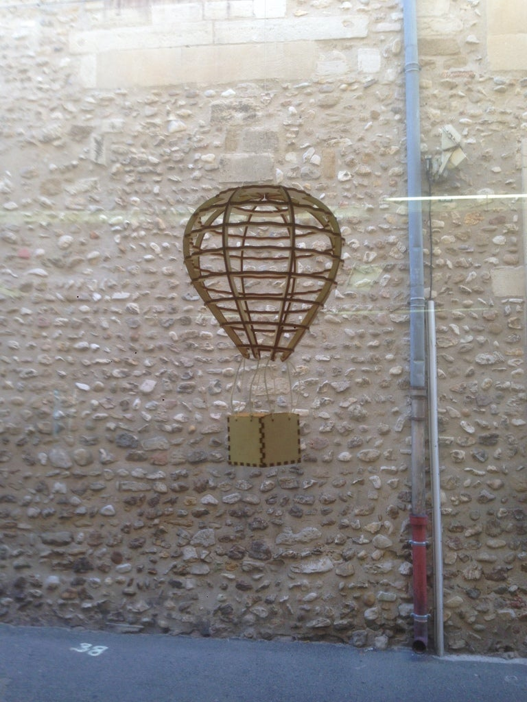 Laser Cut Air Balloon Template Free Vector