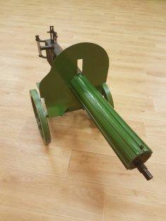 Laser Cut Maxim Machine Gun Free Vector