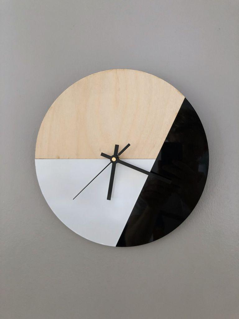 Laser Cut Modern Clock Template Free Vector