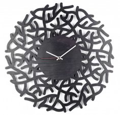Laser Cut Modern Wall Clock Free Vector