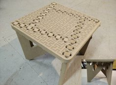 Binary tree foot stool DXF File