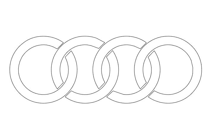 Audi Logo DXF File