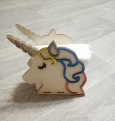 Laser Cut Unicorn Napkin Holder Free Vector