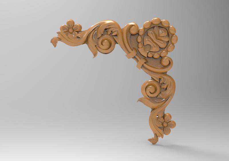 Decorative Corner 3D Stl Model For CNC Router Stl File