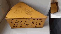 Laser Cut Cheese Box Tempalte Free Vector