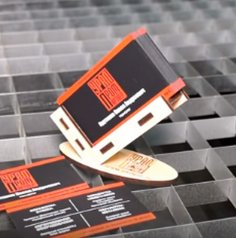 Laser Cut Business Card Holder Stand DXF File