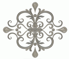 Free Flower Stl File for CNC Router stl File