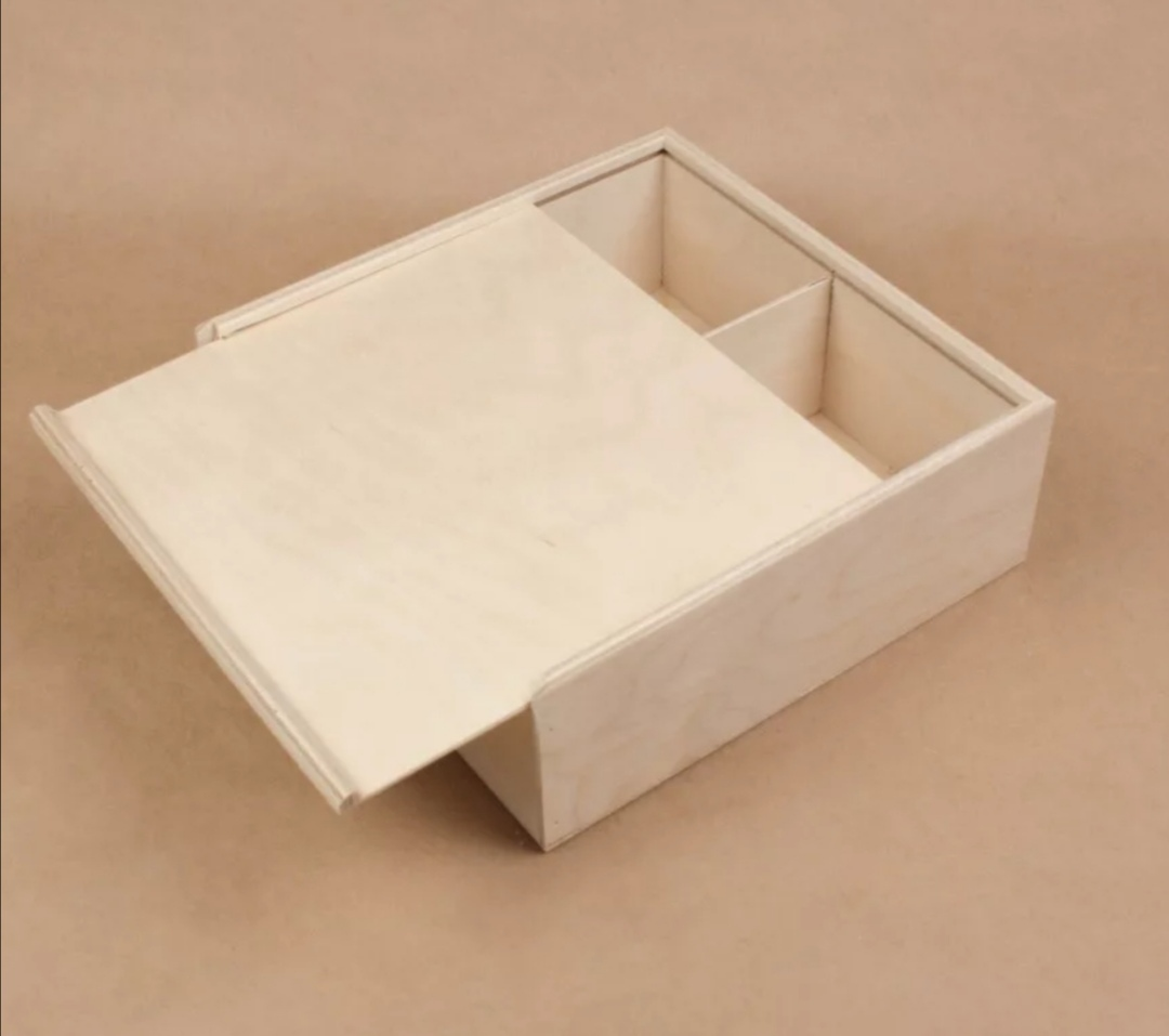 Laser Cut Wooden Box with Sliding Lid Template 3mm Free Vector