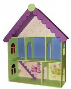 Laser Cut Victorian Dollhouse Kit Kids Toy Free Vector