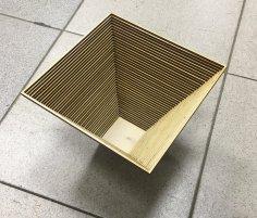 Laser Cut Wooden Decor Basket DXF File