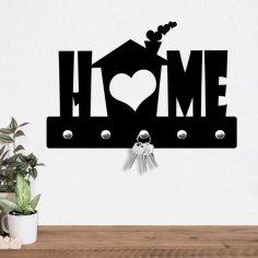 Laser Cut Wall Key Hanger Love Home Decor DXF File
