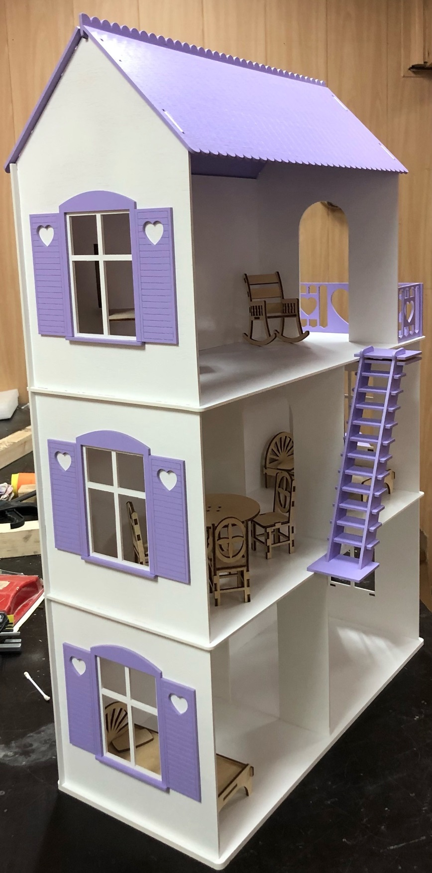 Laser Cut Dollhouse Kit For Beginners DXF File