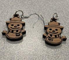 Laser Cut Snowman Earrings SVG File