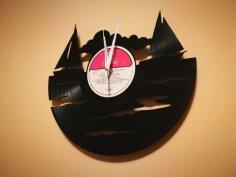 Orologio Vinile Barca Vela Clock dxf file