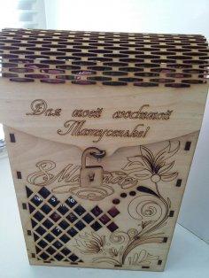 Laser Cut Wine Gift Box Wine Bottle Packaging Box Free Vector