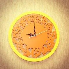 Laser Cut Animals Wall Clock Free Vector