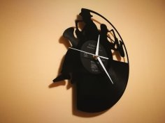 Orologio Vinile Blues Jazz Clock dxf file