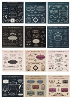 Calligraphic Vintage Design Elements Free Vector