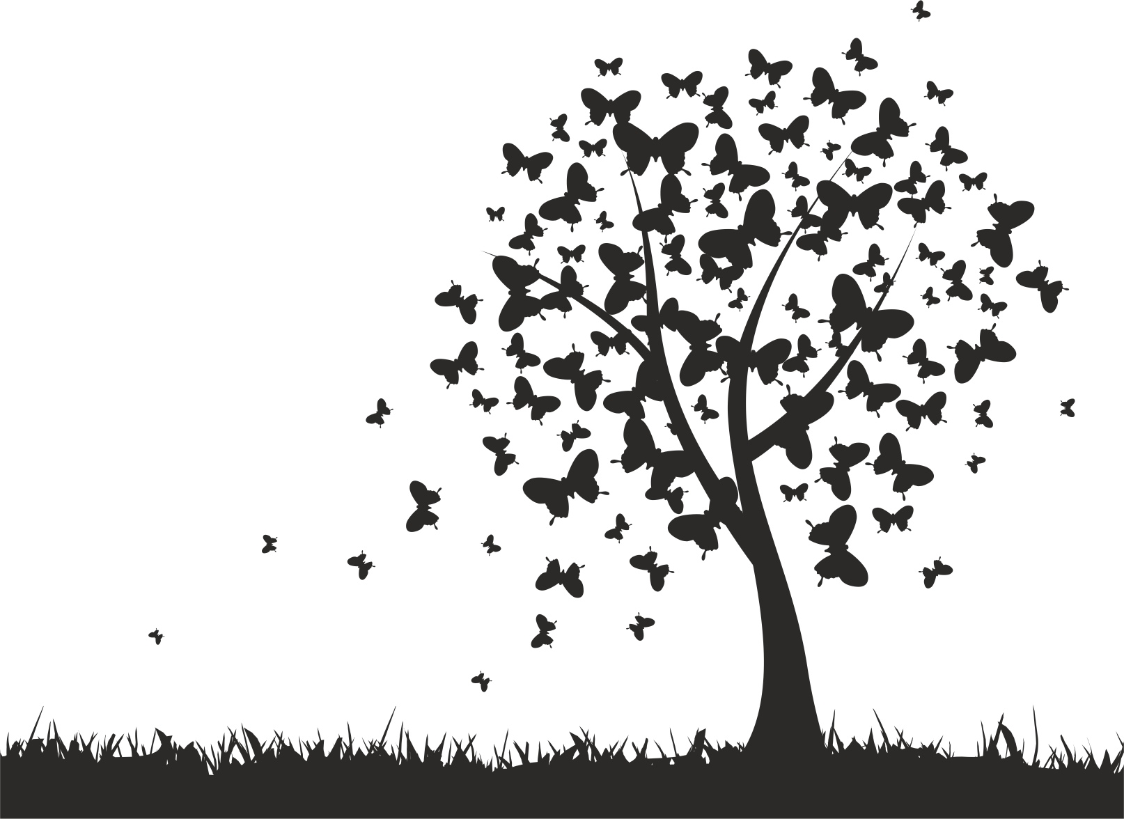 Interior Tree Free Vector