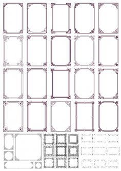 Vintage Retro Ornamental Frames Free Vector