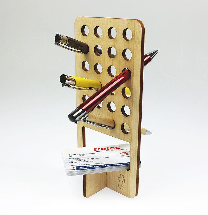 Laser Cut Wooden Pen Holder PDF File