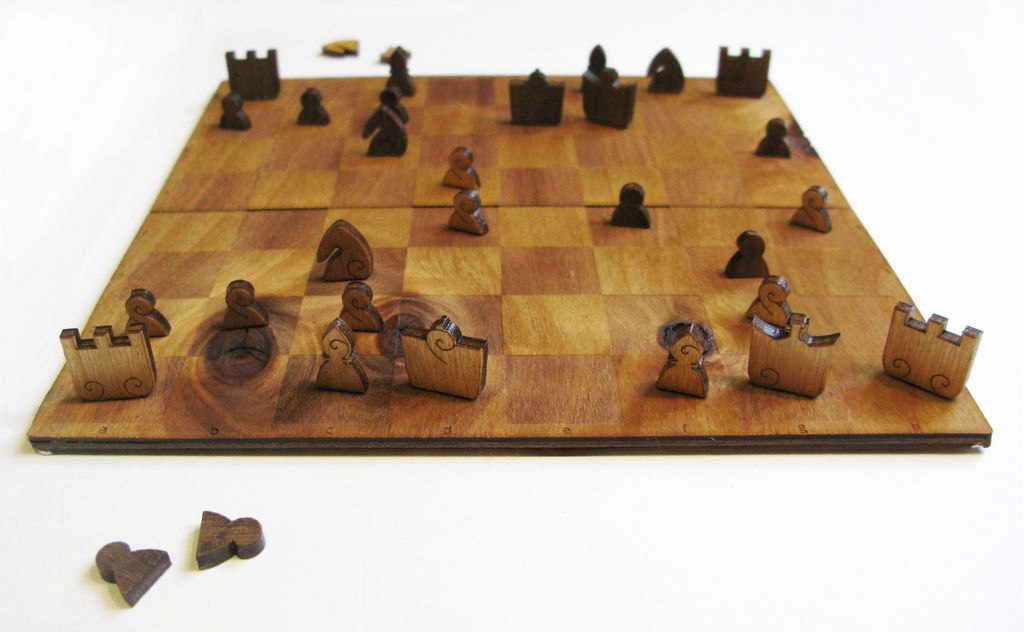 Laser Cut Chess Set Free Vector
