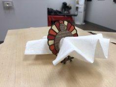 Laser Cut Turkey Napkin Ring Free Vector