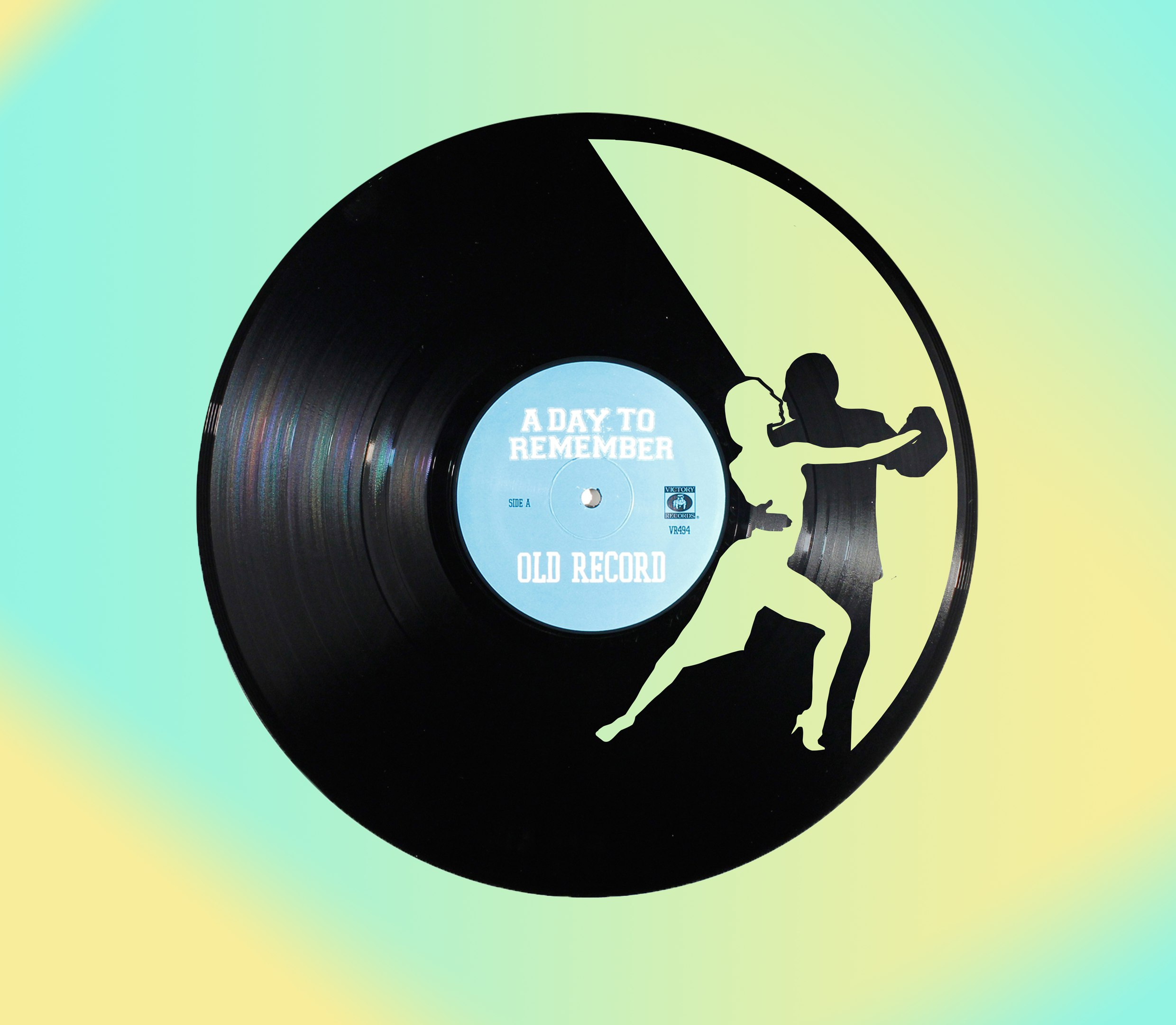 Laser Cut Dancing Couple Vinyl Clock Free Vector