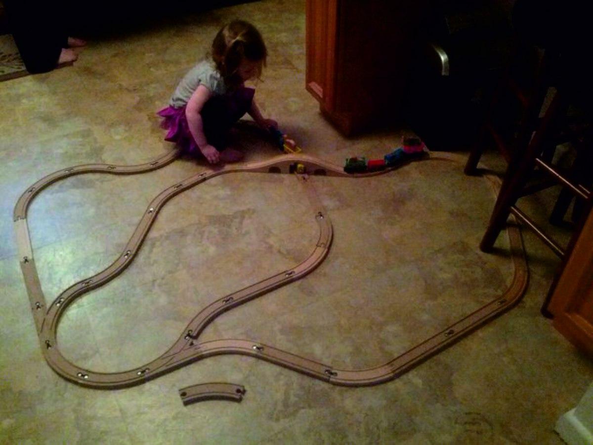Laser Cut Toy Train Railroad Track Free Vector