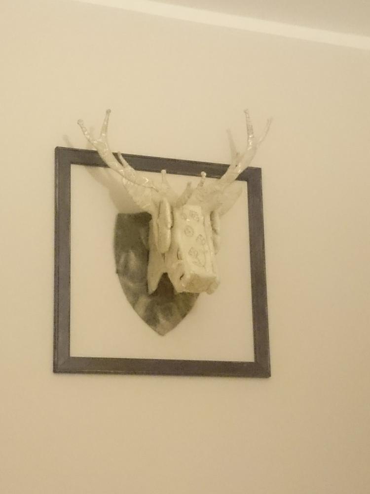 Laser Cut Deer Head Wall Mount Template Free Vector