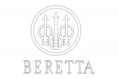 beretta-logo dxf File
