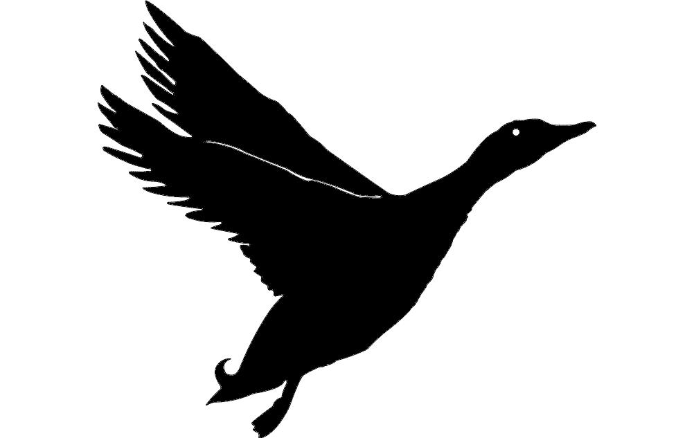 Duck Silhouette dxf File