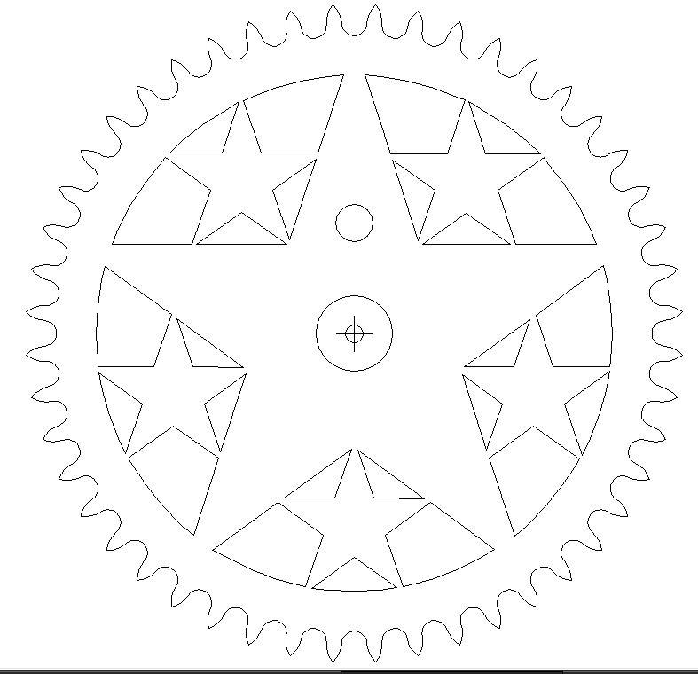 6 Stars DXF File