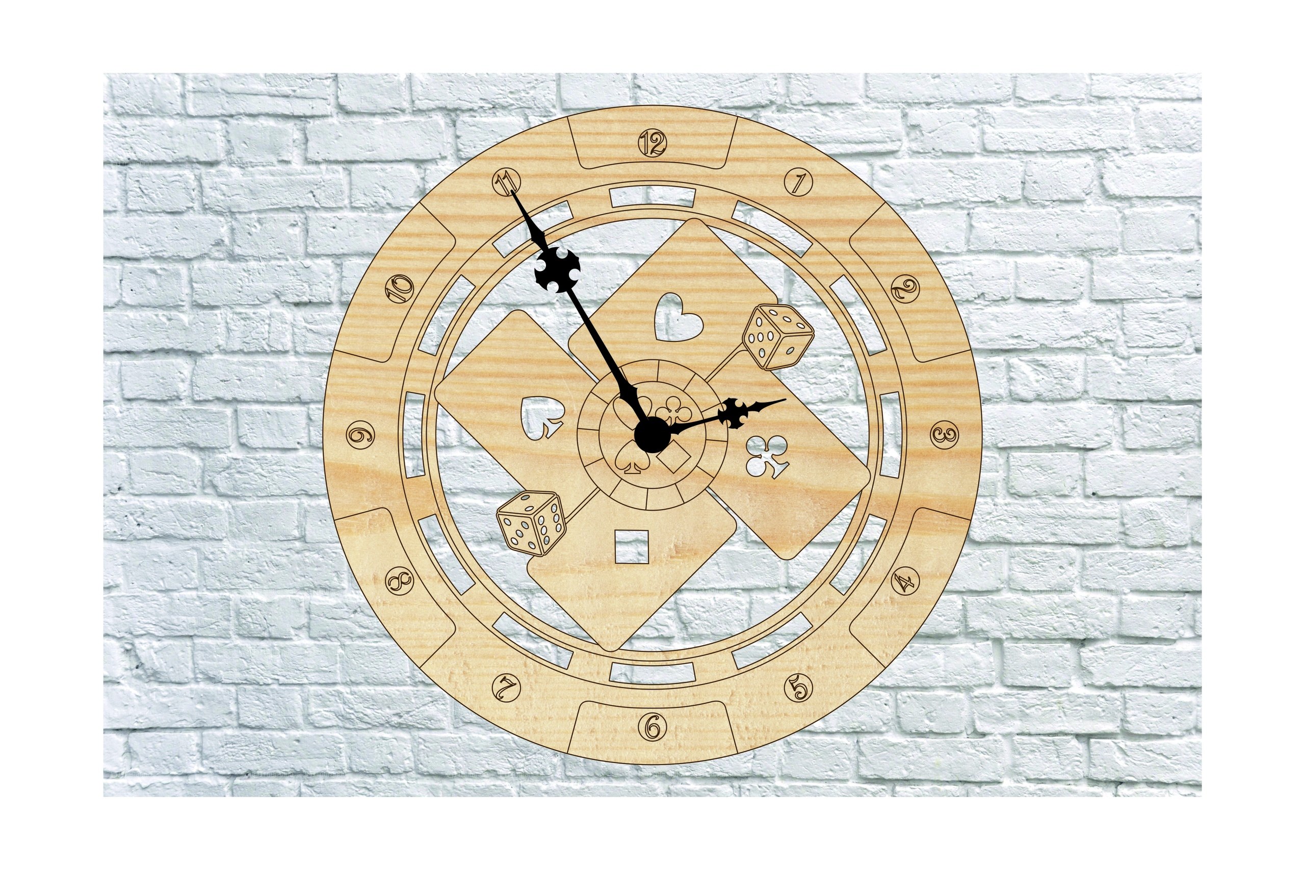 Poker Wall Clock DXF File