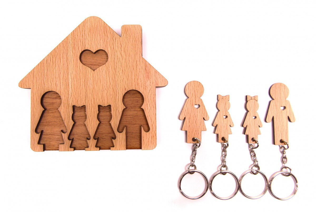 Personalized Key Holder Wall Key Rack Free Vector