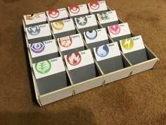 Trading Card Sorting Box DXF File