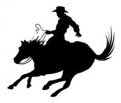 Cowboy Silhouette 2 dxf file
