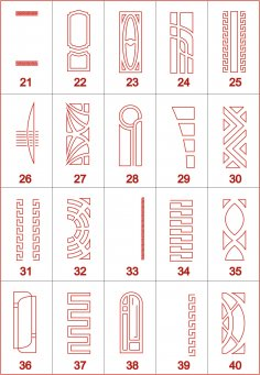 Designs of 20 Doors for Cutting in CNC Router Free Vector