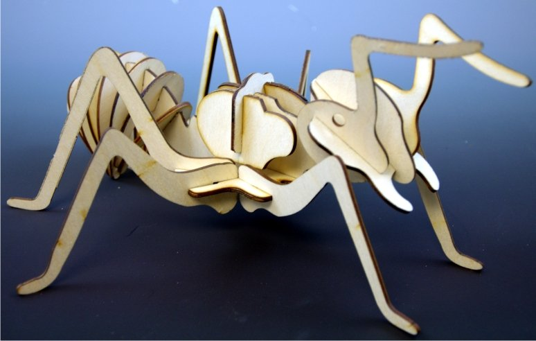 Ant Wood Insect 3d Puzzle DXF File