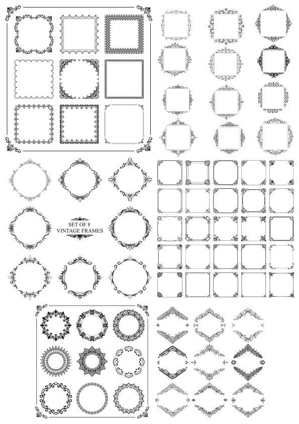 Elegant Decor Elements Free Vector