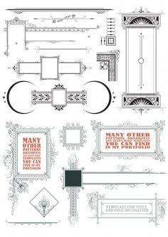 Vintage Vector Decorative Elements Free Vector