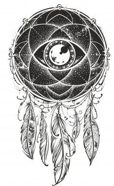 Mystical Dreamcatcher Free Vector