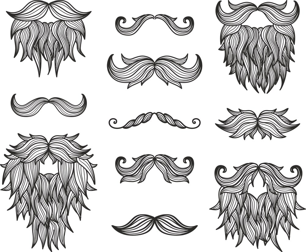 Moustaches Beard Set Free Vector