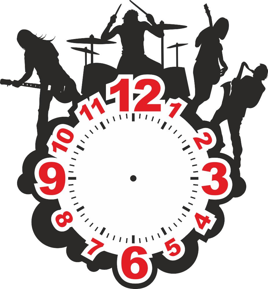 рок часы Free Vector