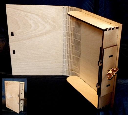 Laser Cut Book Box SVG File