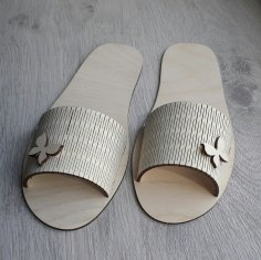 Laser Cut Slippers Free Vector