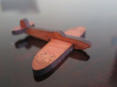 Laser Cut Supermarine Spitfire Aircraft 6mm MDF DXF File